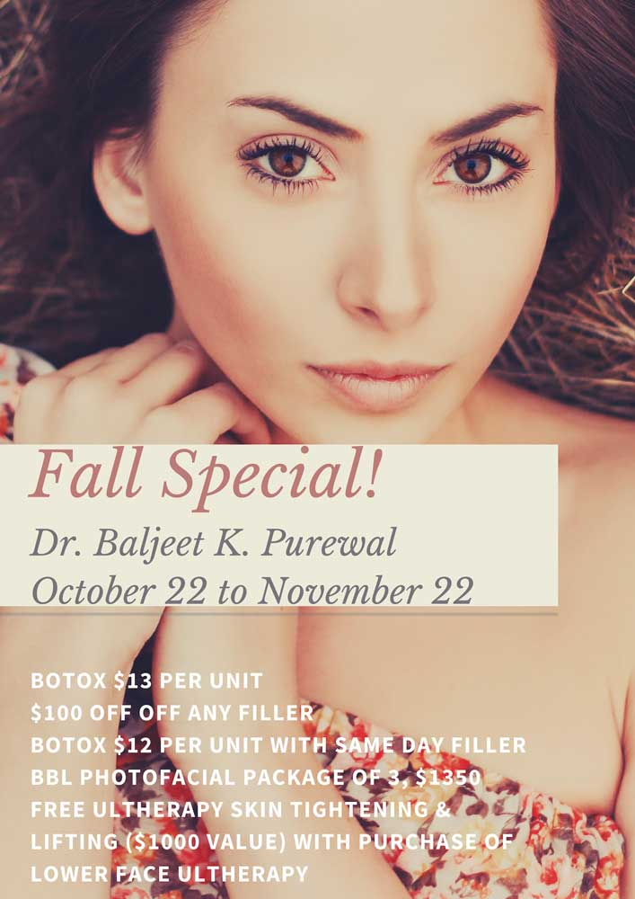 Short Hills Eyelid Surgery - Dr Baljeet Purewal - Fall Savings